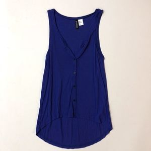 H&M | Blue Button Tank